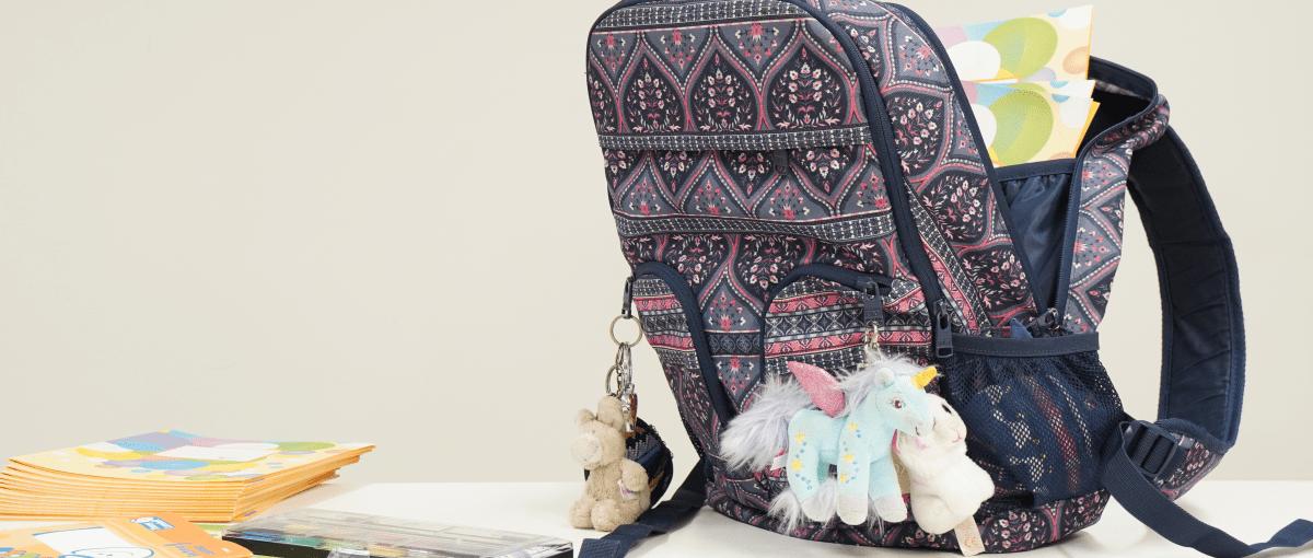 Schultasche und Schulmaterial