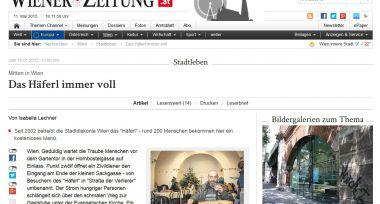 Screenshot von Wiener Zeitung Reportage zum Häferl